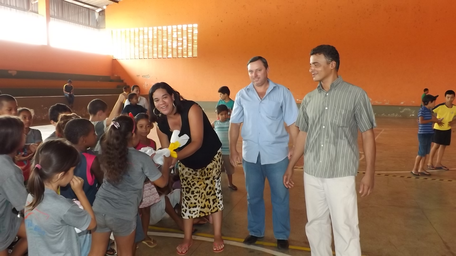Escola Municipal José Wilson Leite,sendo premiada,1º lugar.