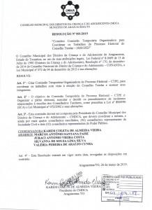 """""""Constitui Comissão Temporária Organizadora para coordenar os trabalhos do Processo do Conselho Tutelar - 2020/2023"""""""