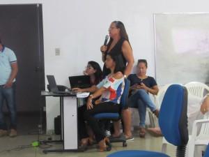 Rosamaura Alves apresenta o Plano Municipal de Água e Esgoto.
