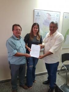 Prefeita Isabella, Deputado Estadual Vilmar Oliveira e Vice Presidente da AGETO