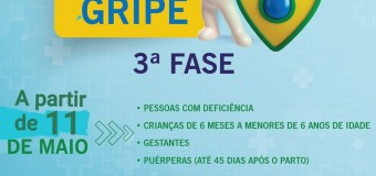 10/05/2020- TERCEIRA FASE DE VACINAÇÃO CONTRA A GRIPE