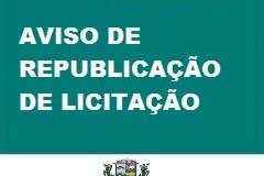 14/09/2020-AVISO DE REPUBLICAÇÃO DE LICITAÇÃO