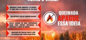 02.06.2021 SEMANA MUNICIPAL DO MEIO AMBIENTE: CAMPANHA QUEIMADAS
