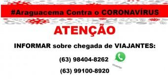 07/05/2020-PROIBIDA A ENTRADA DE VIAJANTES EM ARAGUACEMA
