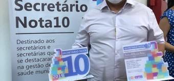 20/10/2020-PRÊMIO SECRETÁRIO DE SAÚDE NOTA 10- COSEMS- TO