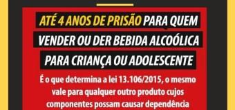 Um mundo livre do álcool. Diga não a venda de bebida alcoólica para menores de 18 anos