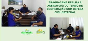 22.04.2021 PREFEITURA MUNICIPAL DE ARAGUACEMA REALIZA A ASSINATURA DO TERMO DE COOPERAÇÃO COM DEFESA CIVIL ESTADUAL