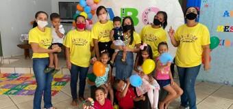 A Secretaria de Desenvolvimento Social, juntamente com o Programa Criança Feliz, realizou um momento do BRINCAR em parceria com a equipe do CRAS